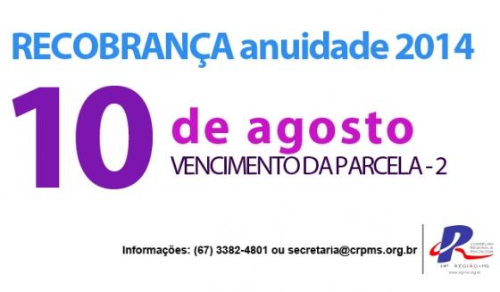 You are currently viewing Recobrança: segunda parcela vence dia 10 de agosto