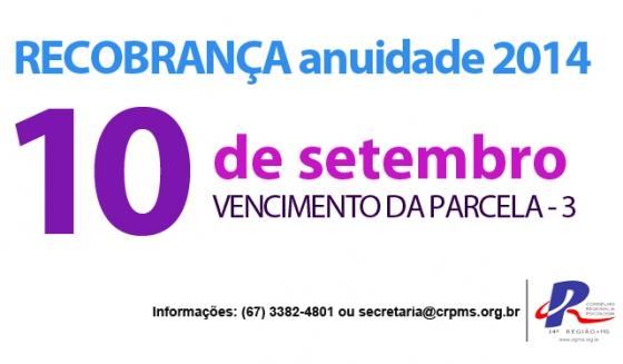 You are currently viewing Recobrança: última parcela vence dia 10 de setembro
