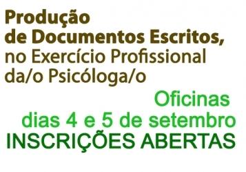You are currently viewing Inscrições abertas para Oficina de Produção de Documentos Escritos para Psicólogas(os)