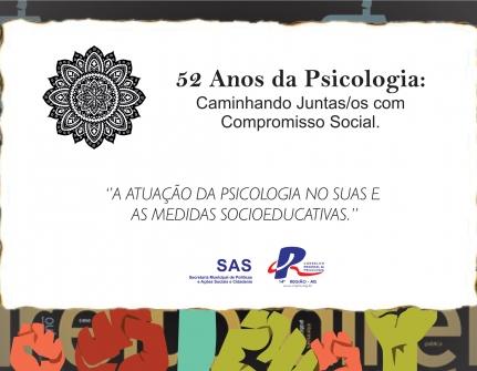 You are currently viewing SAS realiza dia 28 Painel:  A atuação da Psicologia no SUAS e as Medidas Socioeducativas