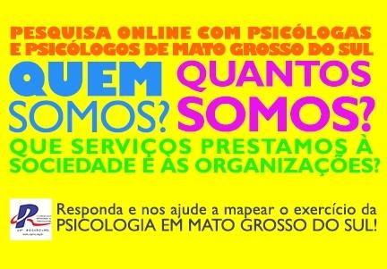 You are currently viewing CRP 14/MS LANÇA PESQUISA INÉDITA PARA MAPEAMENTO E DIAGNÓSTICO PROFISSIONAL EM MATO GROSSO DO SUL