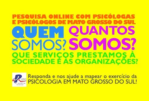 You are currently viewing NÃO RESPONDEU A PESQUISA? Ainda dá tempo, participe do diagnóstico da Psicologia de MS