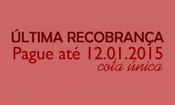 You are currently viewing ÚLTIMA RECOBRANÇA 2014