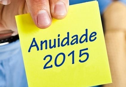 You are currently viewing NOVO – Informações sobre Anuidade 2015