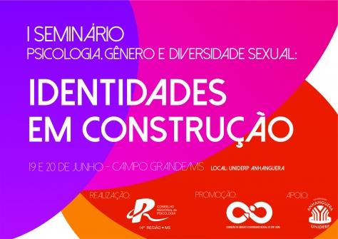 You are currently viewing SEMINÁRIO: PSICOLOGIA, GÊNERO E DIVERSIDADE SEXUAL ABRE INSCRIÇÕES PARA ACADÊMICOS E SOCIEDADE EM GERAL