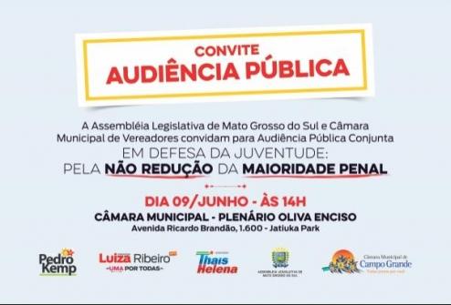 You are currently viewing Conselho acompanha discussão sobre Não redução da maioridade penal em MS