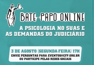 You are currently viewing Bate-papo online sobre Psicologia e a proteção socioassistencial na interface com o Sistema de Justiça