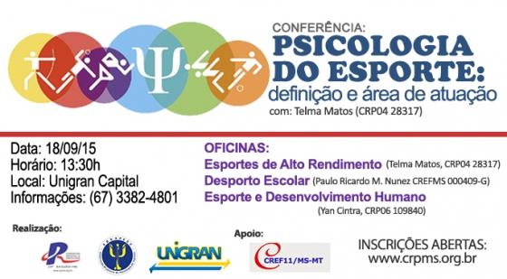"""You are currently viewing Conferência: """"Psicologia do Esporte: definição e área de atuação"""""""