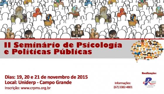 You are currently viewing Vem aí o II Seminário de Psicologia e Políticas Públicas