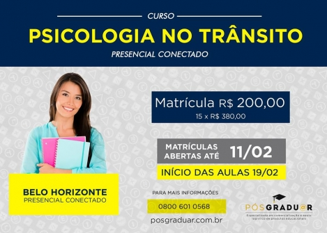 You are currently viewing Especialização em Psicologia do Trânsito (divulgação de terceiros)