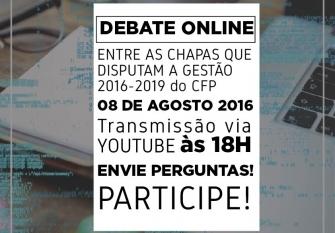 You are currently viewing Eleições 2016: chapas que disputam o CFP debatem no dia 08.