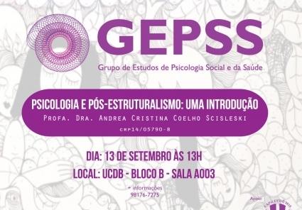 You are currently viewing (Informe Parceiro) Grupo de Estudo promove palestra sobre Psicologia e Pós-Estruturalismo