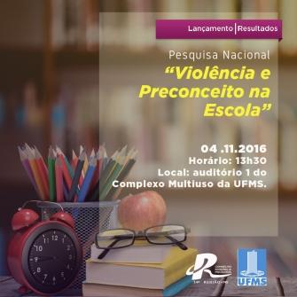 """You are currently viewing Lançamento dos resultados da pesquisa nacional """"Violência e Preconceito na Escola"""" será realizado em Novembro"""