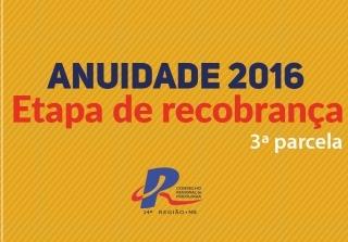 You are currently viewing Terceira parcela da recobrança vence no dia 10