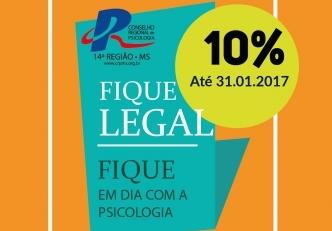 You are currently viewing CRP14/MS lança campanha de Anuidade 2017:  Fique legal!