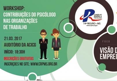 You are currently viewing CRP14/MS realiza Workshop para conversar com profissionais e empregadores