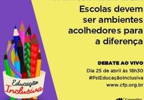 You are currently viewing CFP realiza amanhã debate online sobre Educação Inclusiva