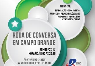 You are currently viewing Próxima Roda de Conversa será realizada em Campo Grande no dia 28