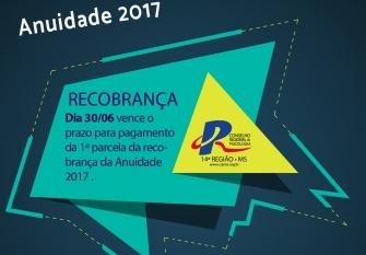 """You are currently viewing Primeira parcela da """"Recobrança 2017"""" vence em 30 de junho"""