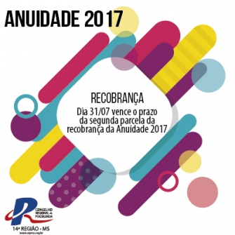 """You are currently viewing Segunda parcela da """"Recobrança 2017"""" vence em 31 de julho"""