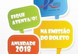 You are currently viewing Anuidade 2018 será emitida em boletos registrados
