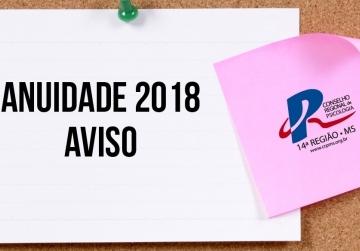 You are currently viewing Terceira parcela da Anuidade de 2018 e cota única podem ser quitadas até 02/04