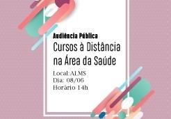 You are currently viewing Audiência Pública sobre Ensino à Distância na área da saúde será realizada nesta sexta-feira