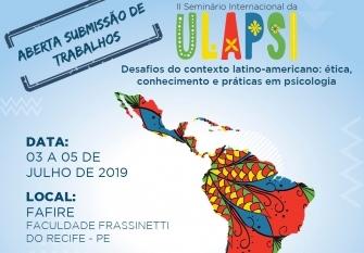 You are currently viewing 2ª edição do Seminário Internacional da Ulapsi será realizada em Recife