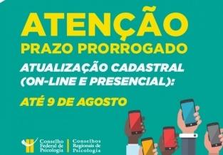 You are currently viewing Prorrogado prazo para atualização cadastral pela internet