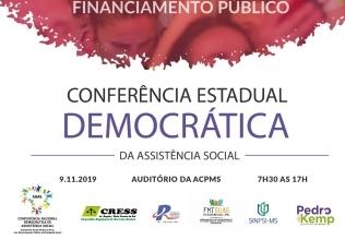 You are currently viewing Conferência Estadual Democrática de Assistência Social será realizada em novembro