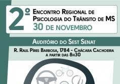 You are currently viewing Em novembro, Conselho realiza o  2º Encontro Regional de Psicologia do Trânsito de MS