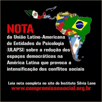 You are currently viewing Nota ULAPSI – sobre a redução dos espaços democráticos na América Latina
