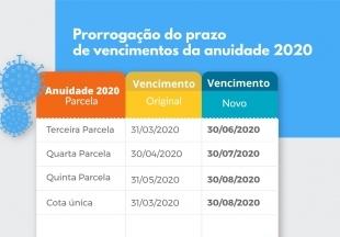 You are currently viewing Resolução prorroga o prazo de vencimentos da anuidade 2020