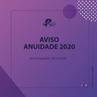 You are currently viewing GERADA TERCEIRA PARCELA DA ANUIDADE 2020