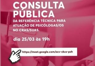 You are currently viewing Consulta Pública do Crepop: Atuação da Psicologia no CRAS/SUAS.   CRP14 se reúne remotamente para discussão no dia 25.03, participe!