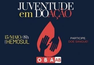 You are currently viewing 15 de maio: Vem aí a primeira ação do CONJUV de mobilização para doação de sangue.