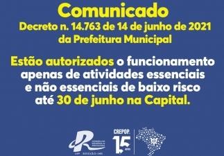 You are currently viewing COMUNICADO SOBRE O DECRETO Nº 14.763 DA PREFEITURA DE CAMPO GRANDE