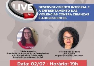 You are currently viewing CRP14/MS realiza nesta sexta (02), LIVE para discutir o enfrentamento a Violência contra crianças  e adolescentes