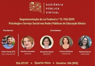 You are currently viewing Audiência Pública Virtual na Assembleia Legislativa de MS discute a efetivação da Lei 13.935/19