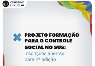 You are currently viewing Projeto Formação para o Controle Social no SUS: inscrições abertas para 2ª edição