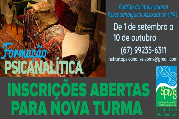 You are currently viewing CRP14/MS Divulga: Nova turma de formação psicanalítica do Instituto de Psicanálise.