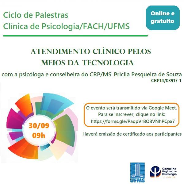 You are currently viewing CRP14/MS Divulga: Atendimento clínico pelos meios de tecnologia
