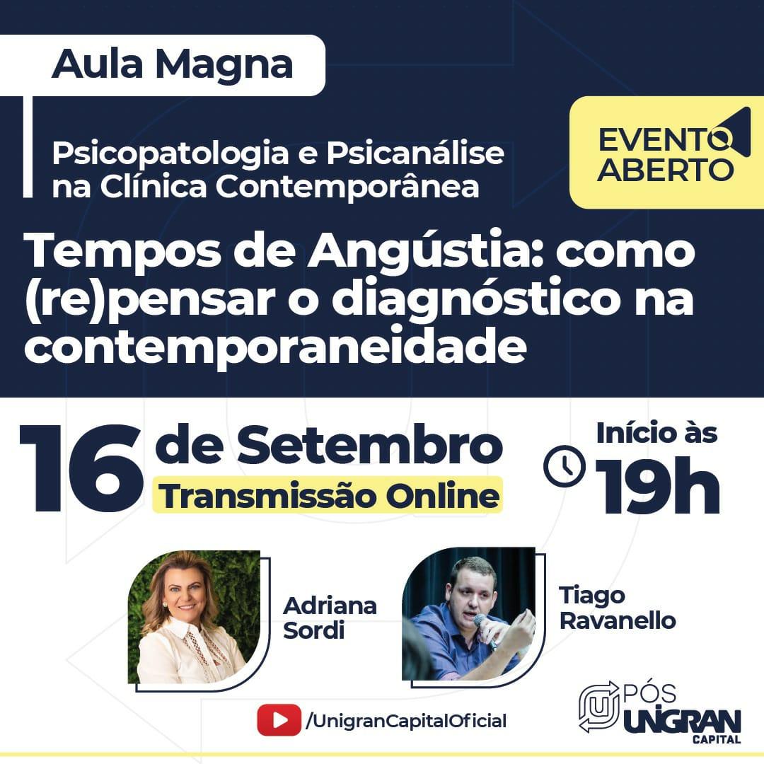 "Read more about the article CRP14/MS Divulga: Evento aberto discute ""Tempos de Angústia: como (re)pensar o diagnóstico na contemporaneidade"", com Tiago Ravanello e Adriana Sordi"