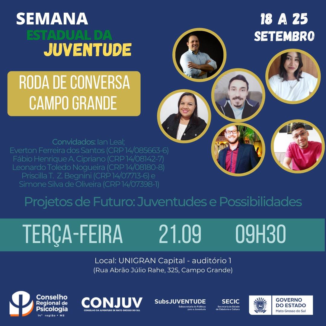 Read more about the article Semana Estadual da Juventude vai abordar a saúde mental dos jovens em extensa programação