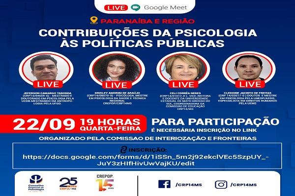 Read more about the article Live: Contribuições da Psicologia às Políticas Públicas