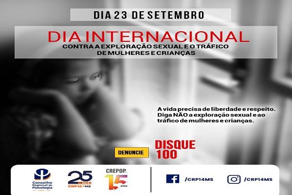 Read more about the article 23 de setembro: Dia Internacional Contra a Exploração Sexual e o Tráfico de Mulheres e Crianças
