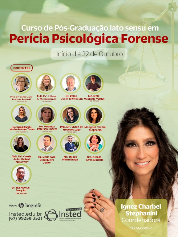 You are currently viewing Faculdades Insted abre Curso de Pós-graduação de Perícia Psicológica Forense