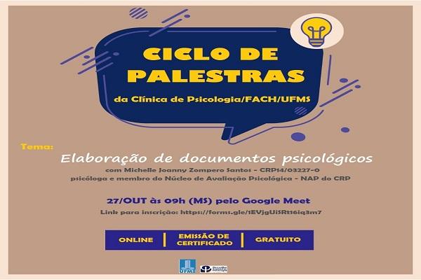 """Read more about the article CRP14 Divulga: Palestra online – """"Elaboração de documentos psicológicos"""""""