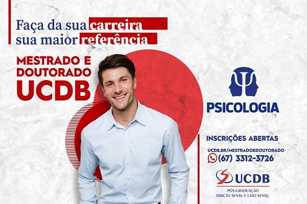 Read more about the article CRP14 Divulga: Mestrado e Doutorado em Psicologia na UCDB